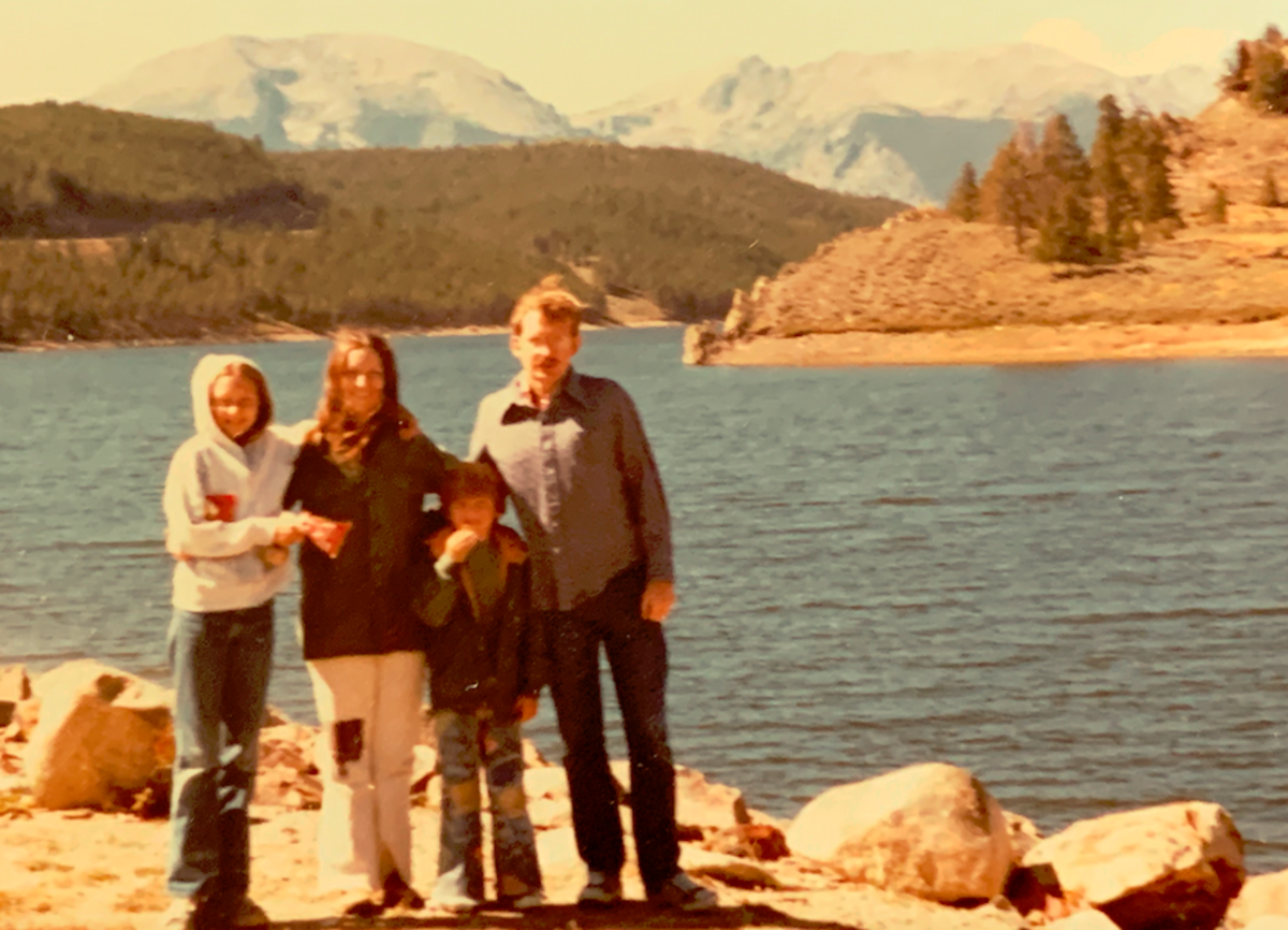 Lyn, Linda, Rodney, and me in Colorado