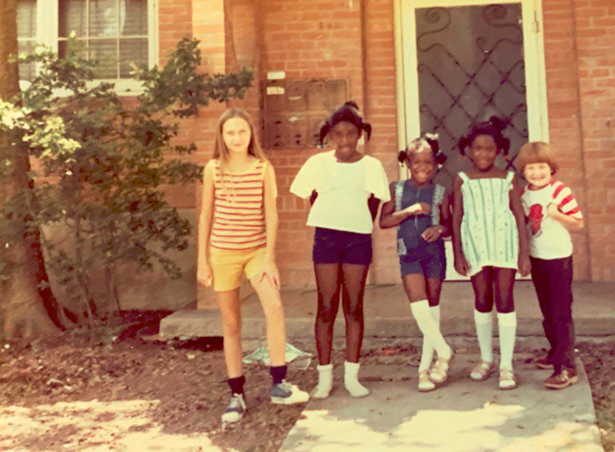 Kids and neighbors in San Antonio