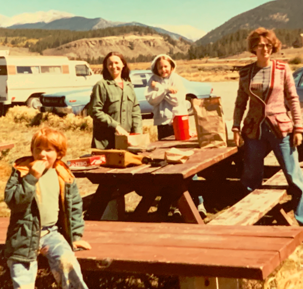 Left to right:  Rodney, Linda, Lyn, and Faye in the Colorado Mountains