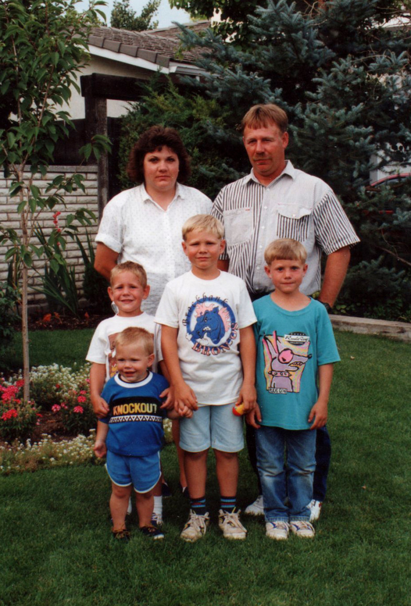 Janet, Ned and the boys.