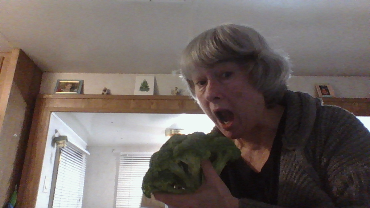 Lori and her best friend broccoli.