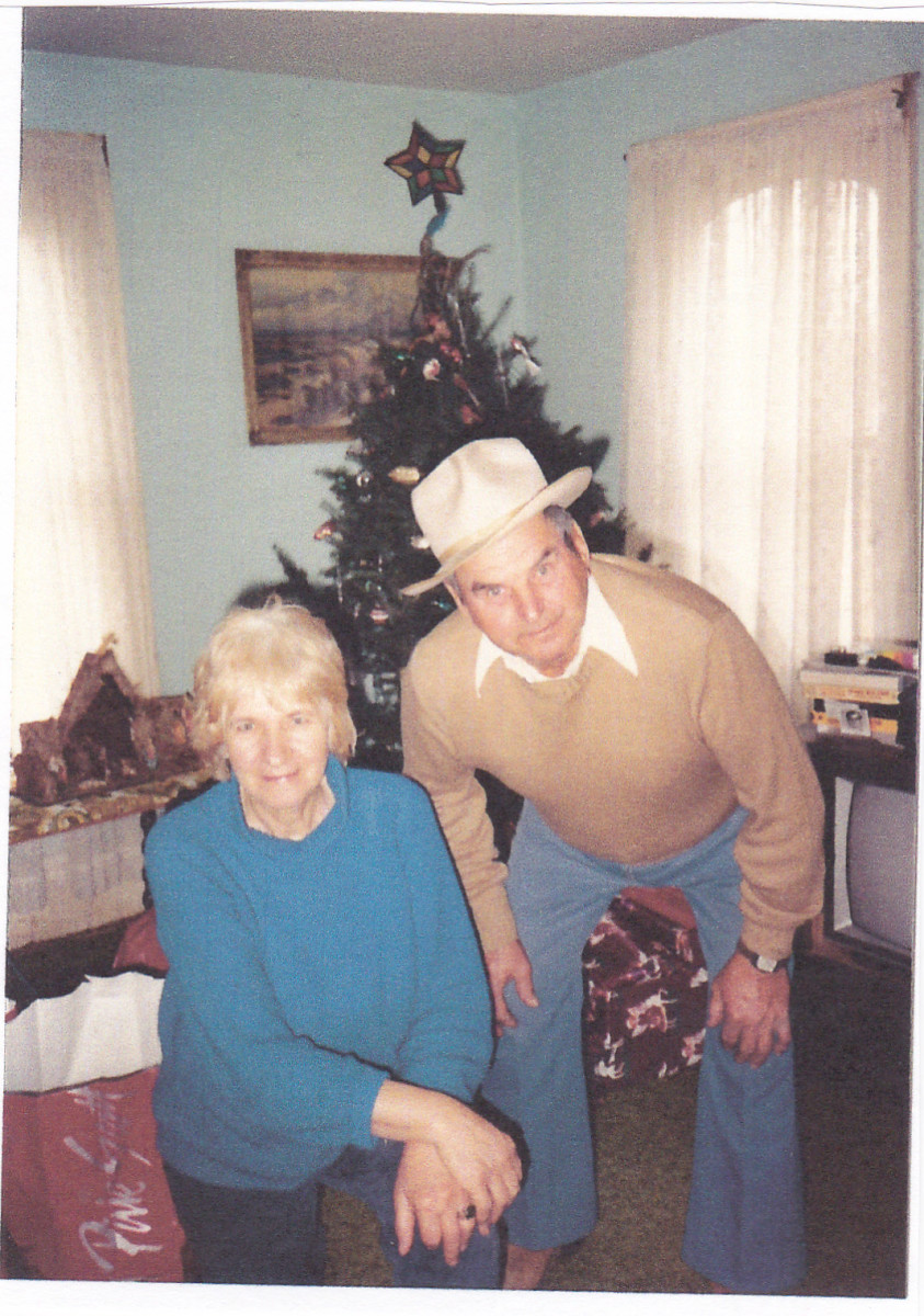Mom and dad at home