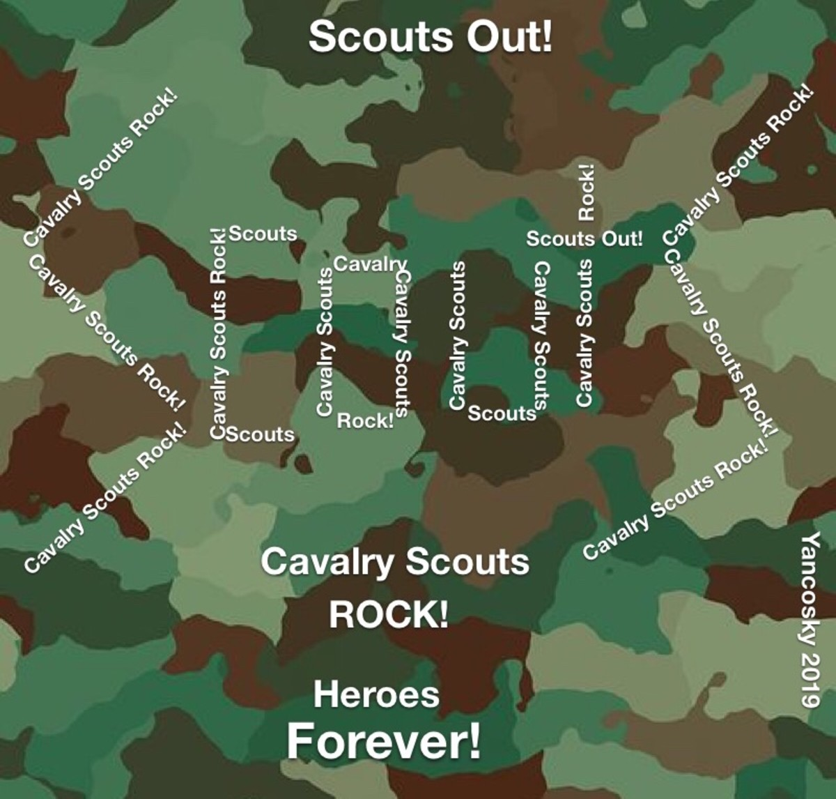 Cavalry Scouts, Creative Writing