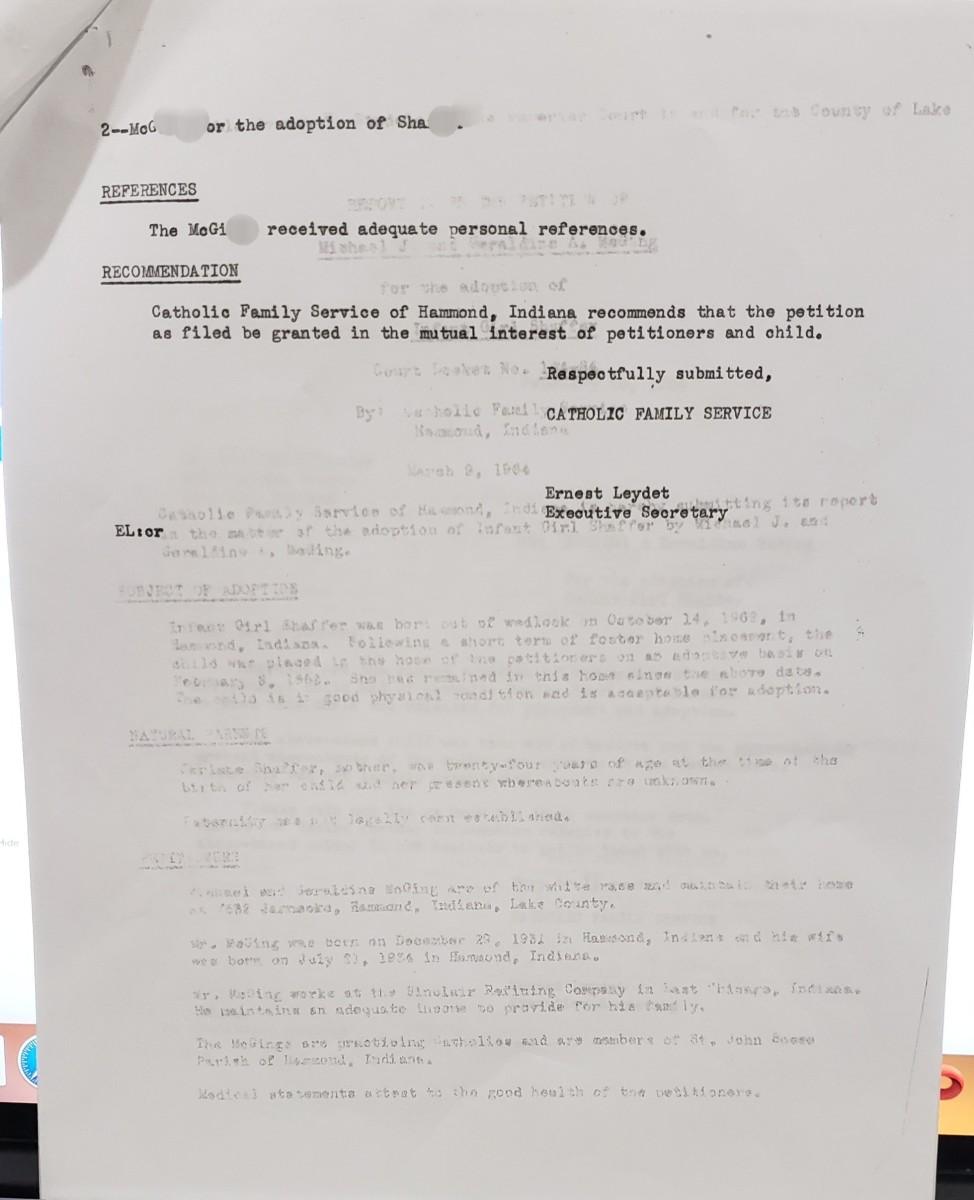 Adoption Report, Page 2