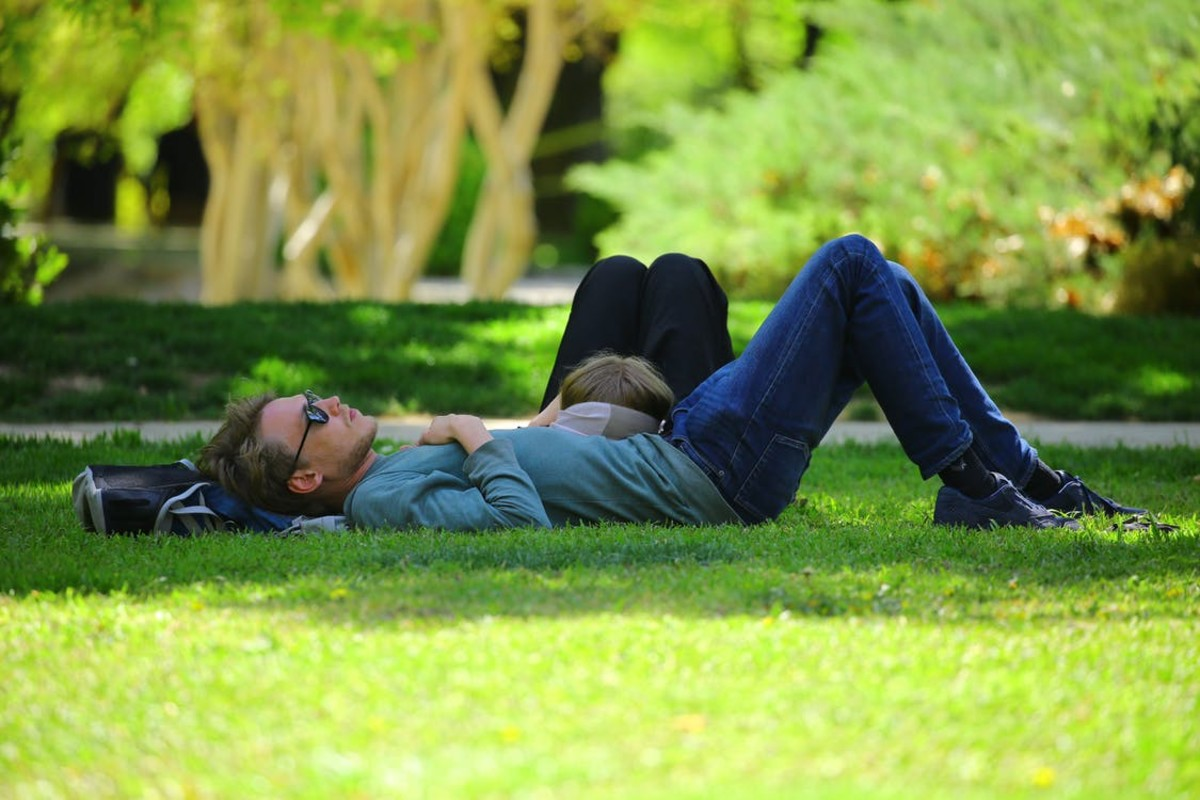 This photo is still NOT me. But I would love to visit some city that has a big park and lay on my back and nap for hours.