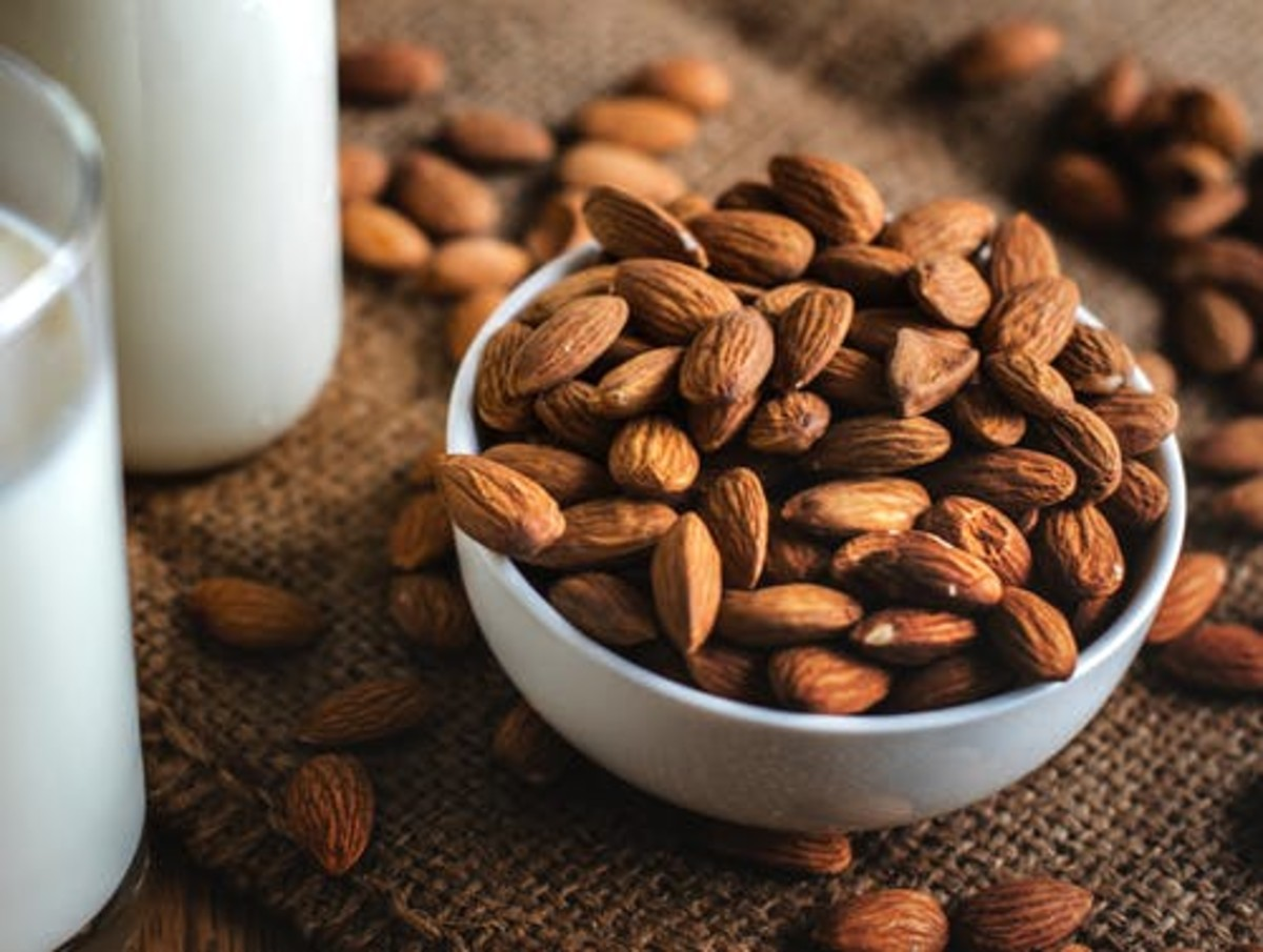 Almonds; a Good Snack , but I cannot think about milk and almonds  right now.