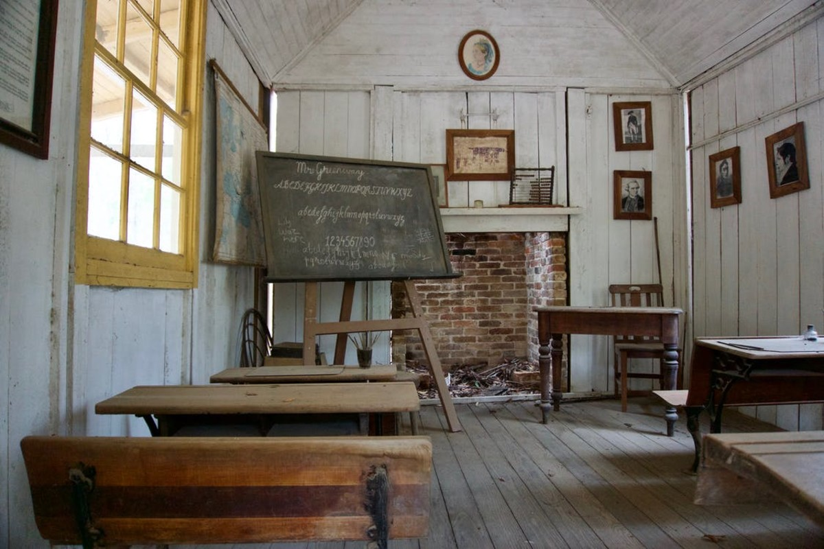 Desks such as this are similar to my desk at New Home School.