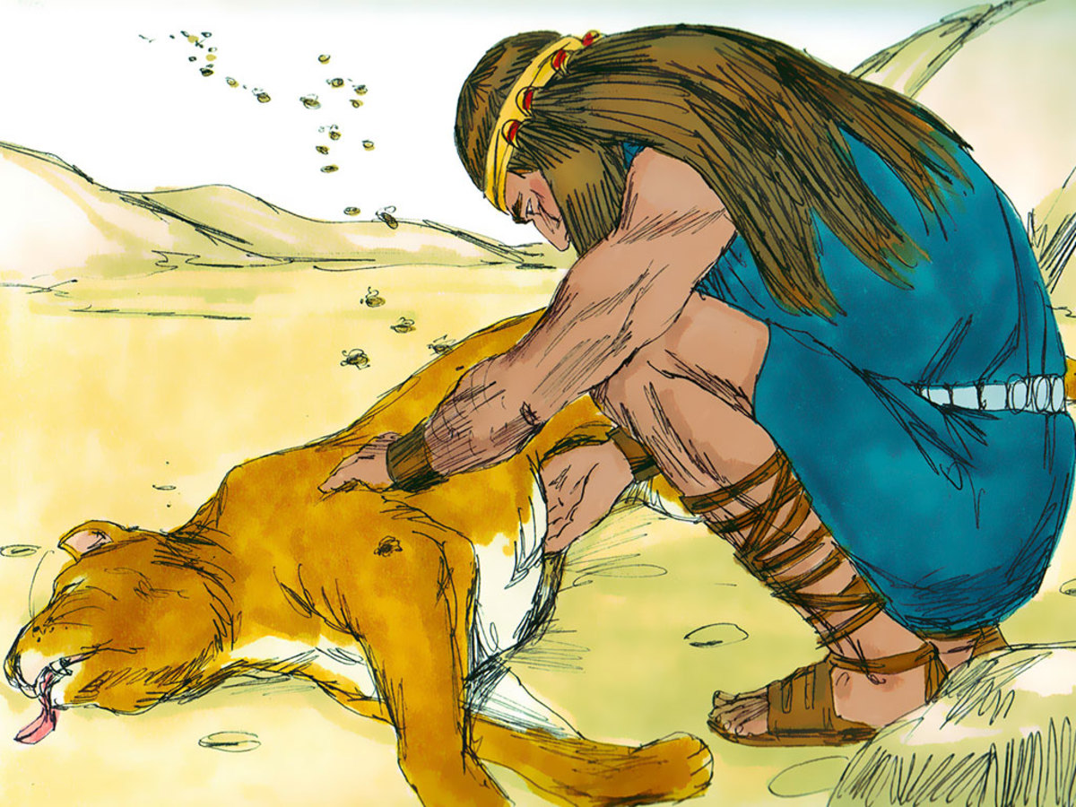 Samson found the lion he killed and found the bees had made honey in the lion's carcass. EW.