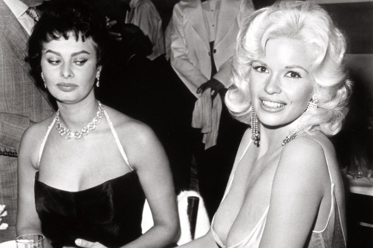 From left, Sophia Loren and Jayne Mansfield, two of Hollywood's elite.