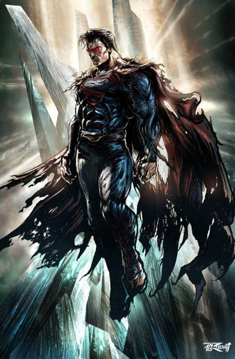 Superman after a tough battle.