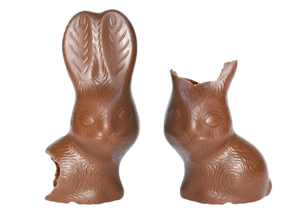 Half eaten Easter Bunny