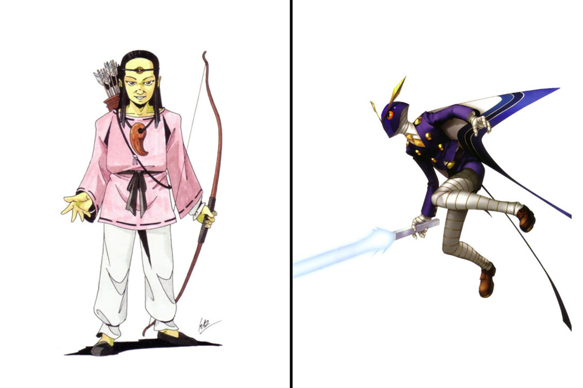 Depiction of Sukuna Hikona in the Shin Megami Tensei and Persona game series.