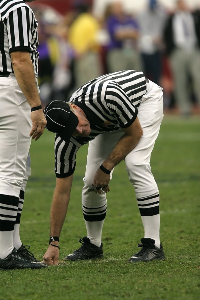 Referees have tough jobs in knowing what is legal or illegal in football games.