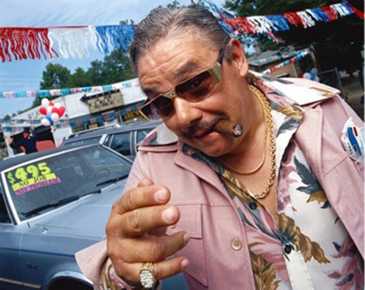 Now really? Would you buy a used car from this guy?
