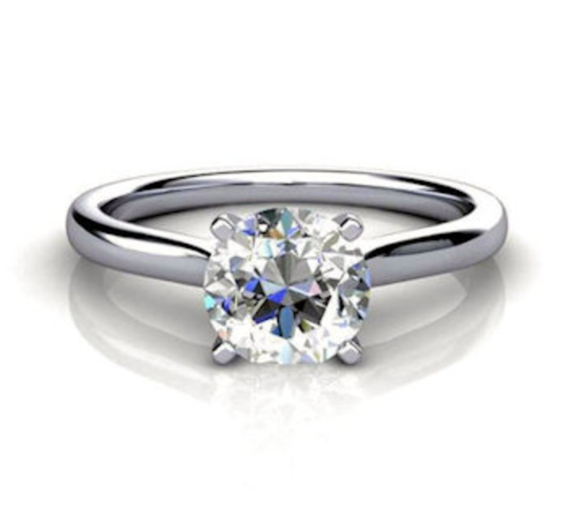 A beautiful 1.5 ct. diamond solitary ring.