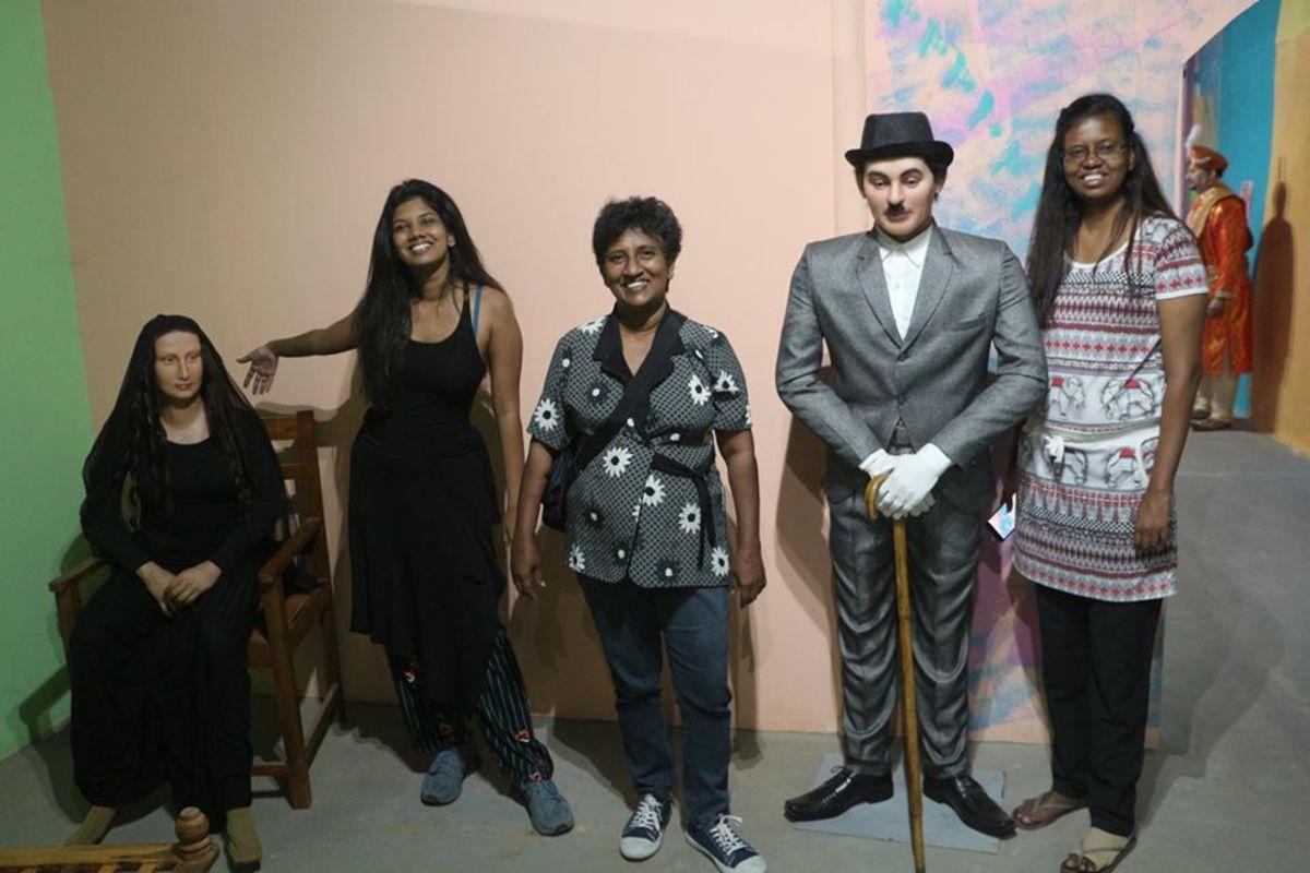 Charlie Chaplin and Mona Lisa