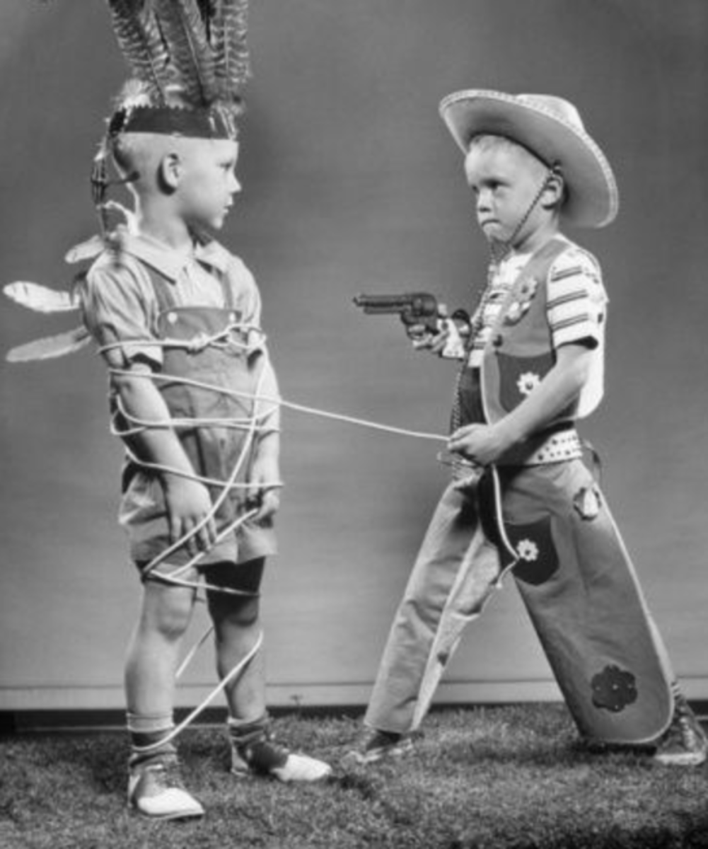 Playing Cowboys and Indians back in the 60s