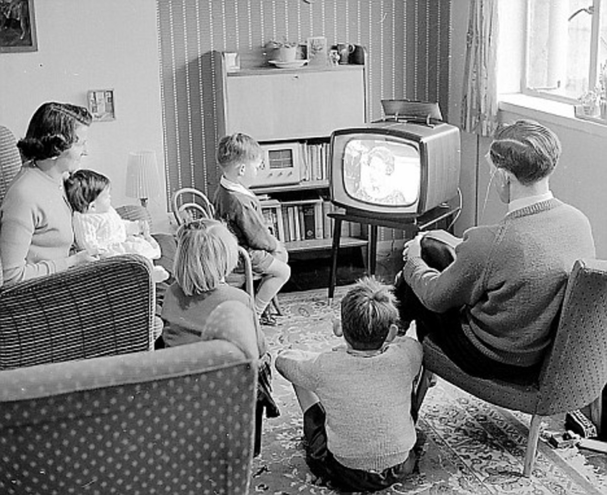 Then home to watch TV. Kids 1960's