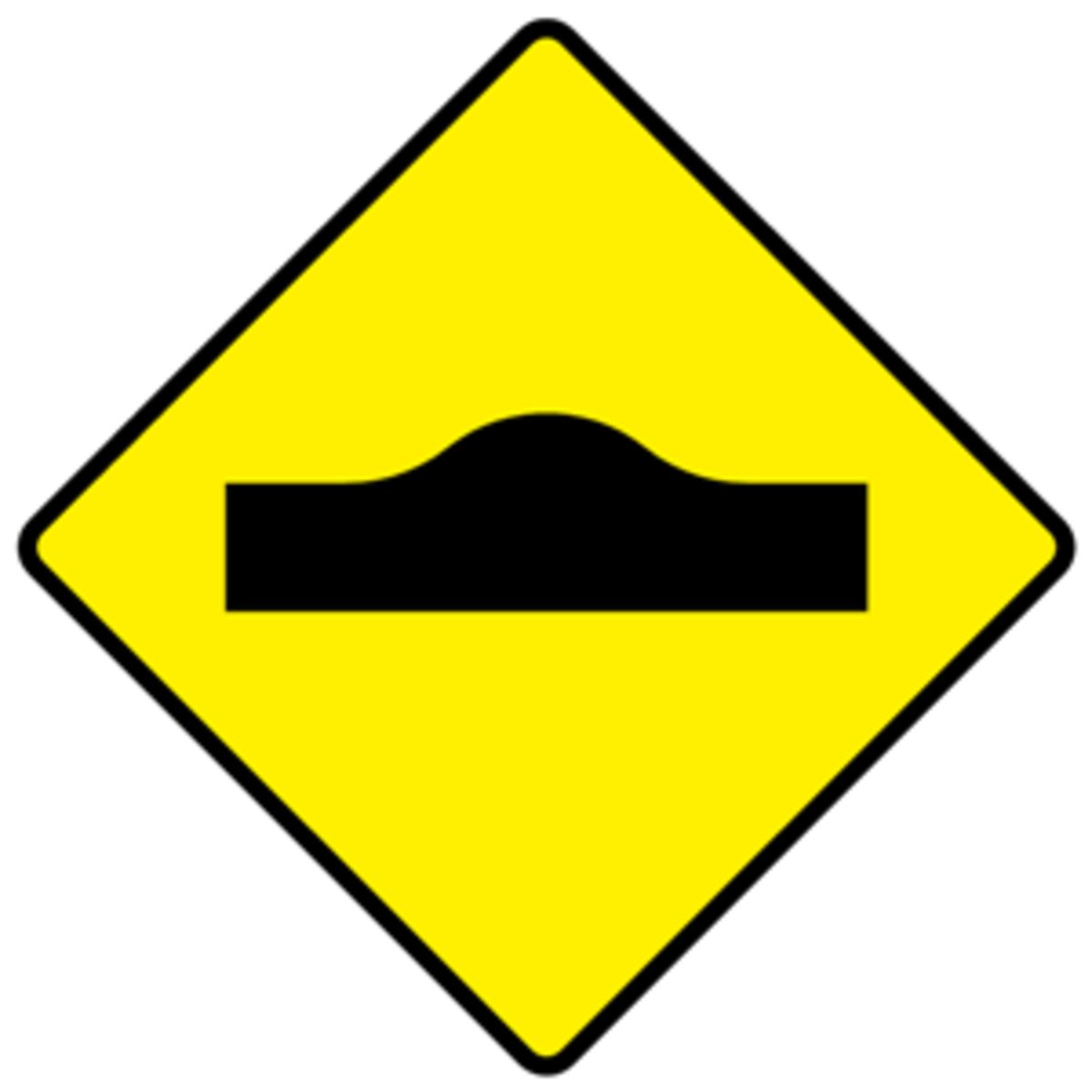 W130 Road Hump Warning Sign Ireland.If You See One Of These Signs . . .Slow Down!