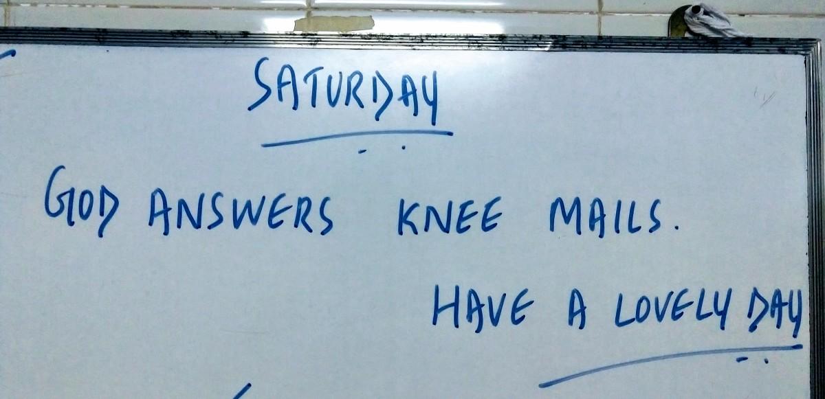 Have you ever sent knee mails?