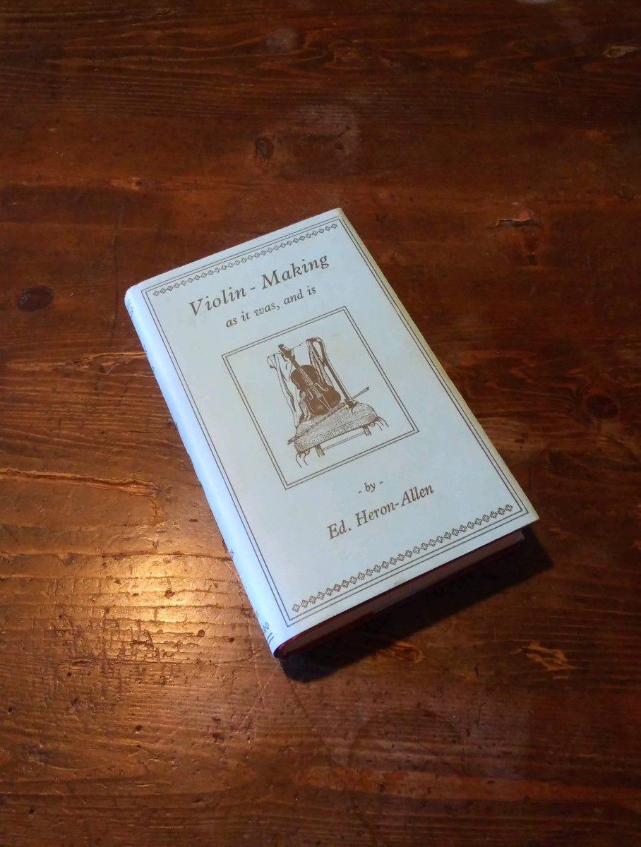 This is an old violin maker's handbook, including many interesting historical tidbits, songs, and poems.
