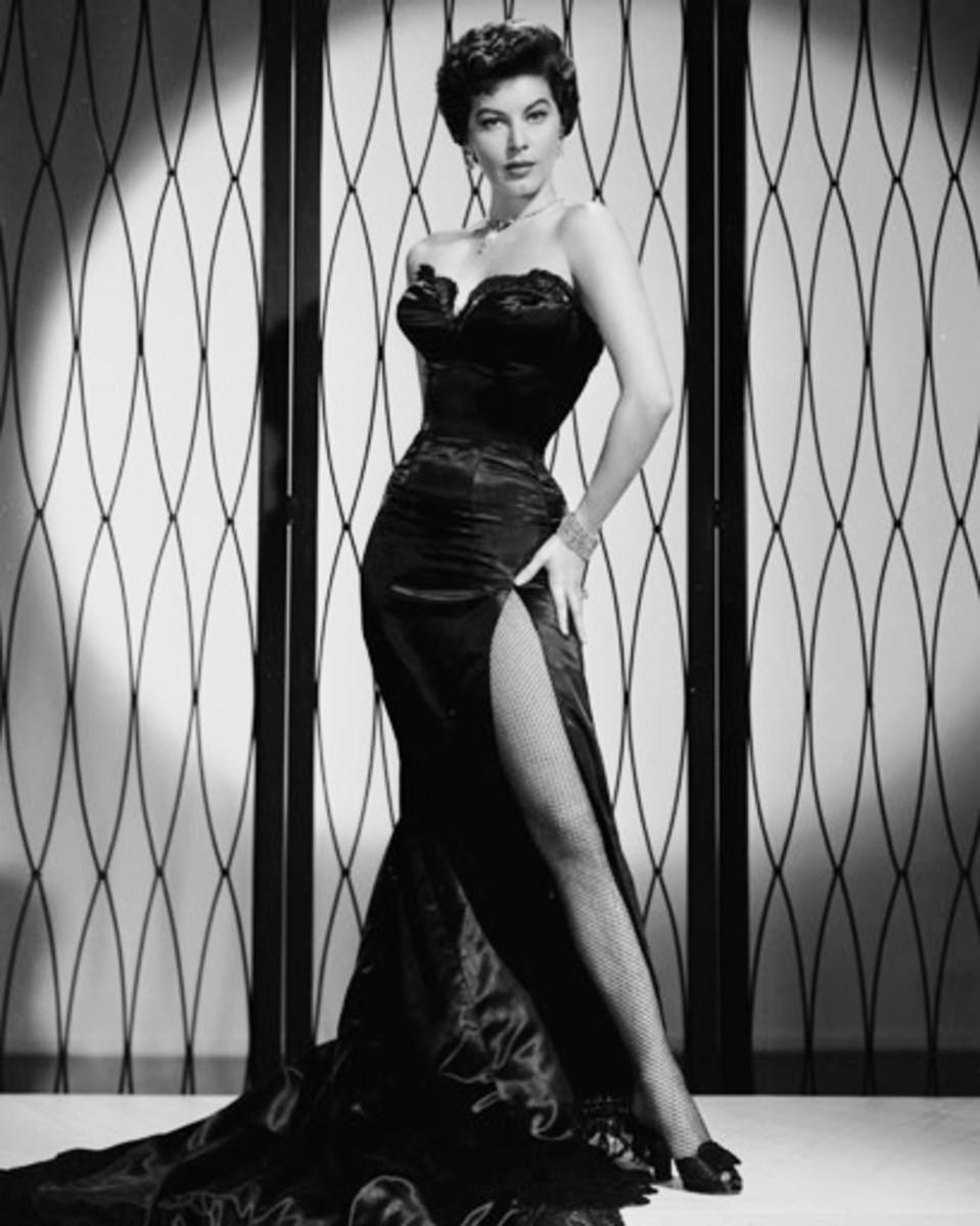 Ava Gardner in Evening Gown.