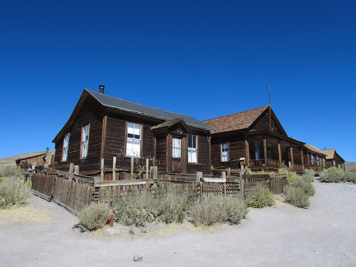 Old House and Tumbleweeds: a Natural Couple in the west.