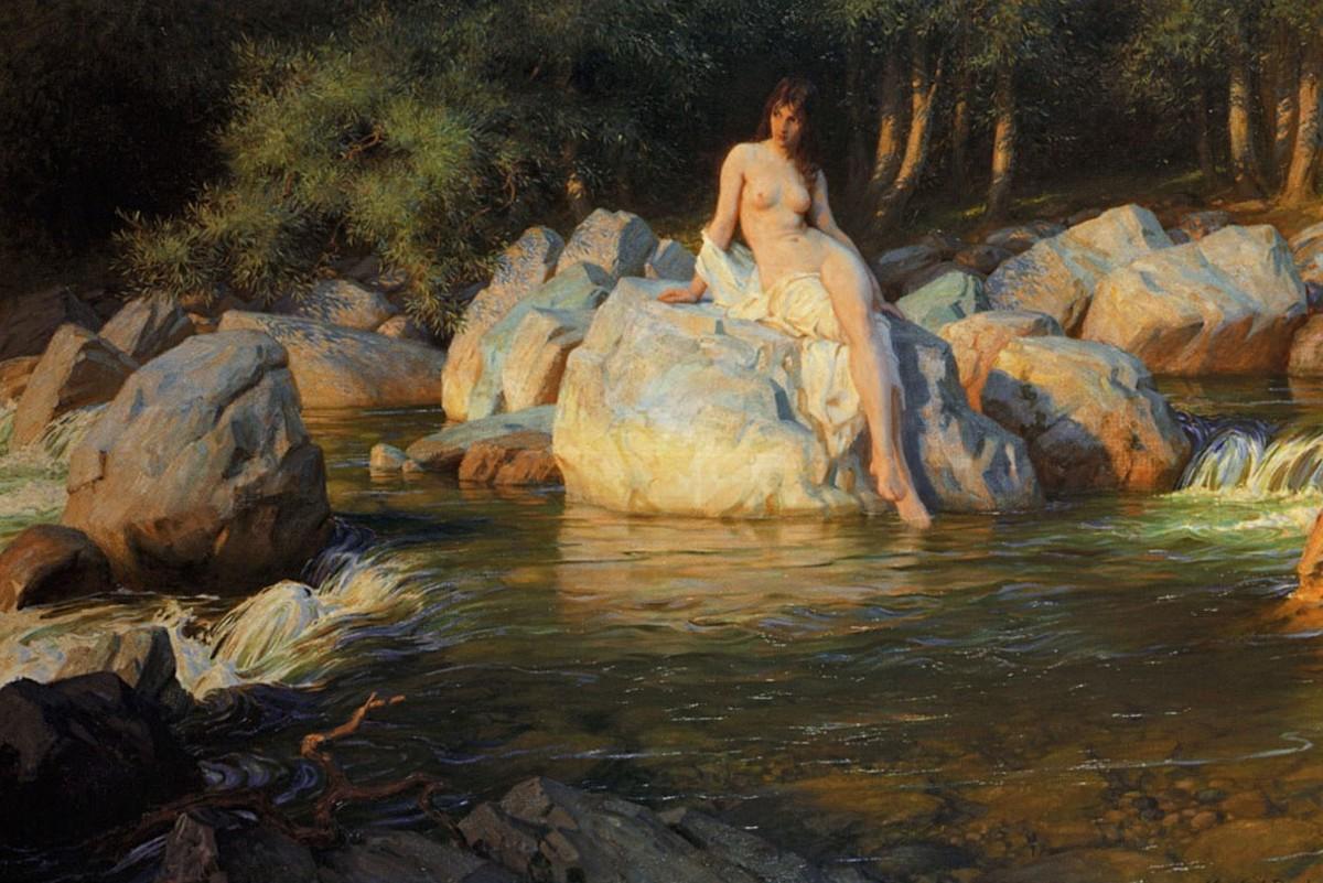 Selkie on the Rocks, Herbert James Draper
