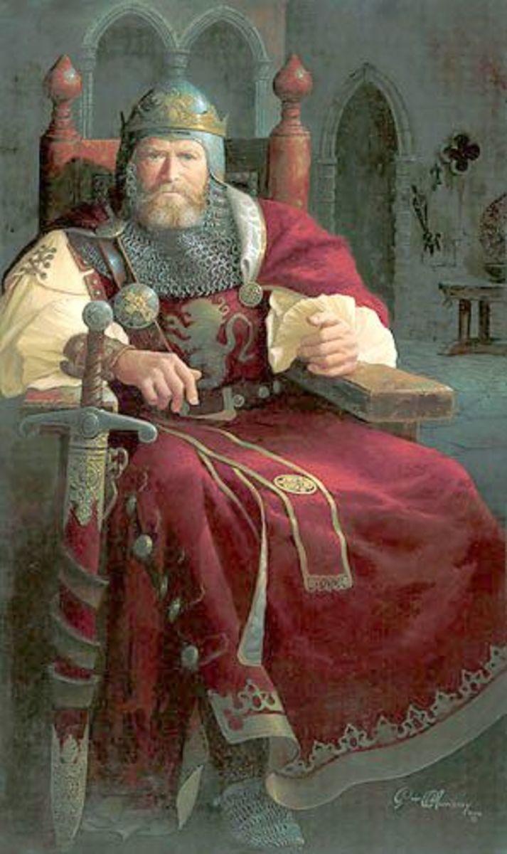 Cadeyrn upon his throne