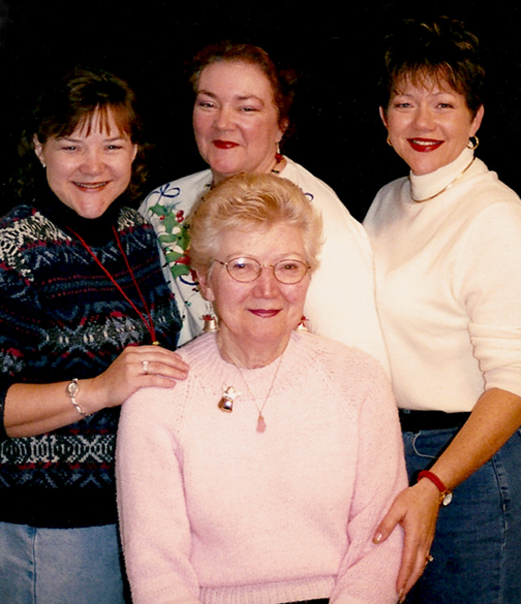 Mom, me and my sisters