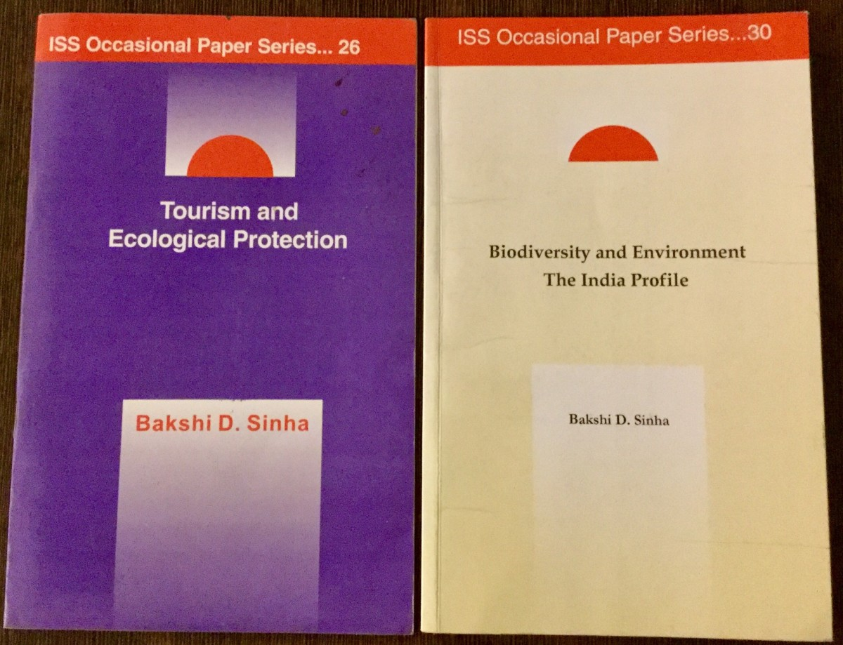 Tourism and Ecological Protection-Author-Prof. Bakshi. D. Sinha; Biodiversity and Environment: The India Profile—Author -Prof. Bakshi. D. Sinha