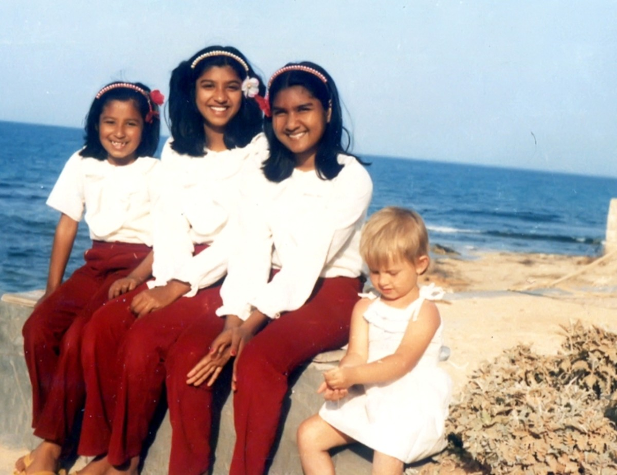 Pic10: My Sisters and Myself Along with Katcha Near the Sea