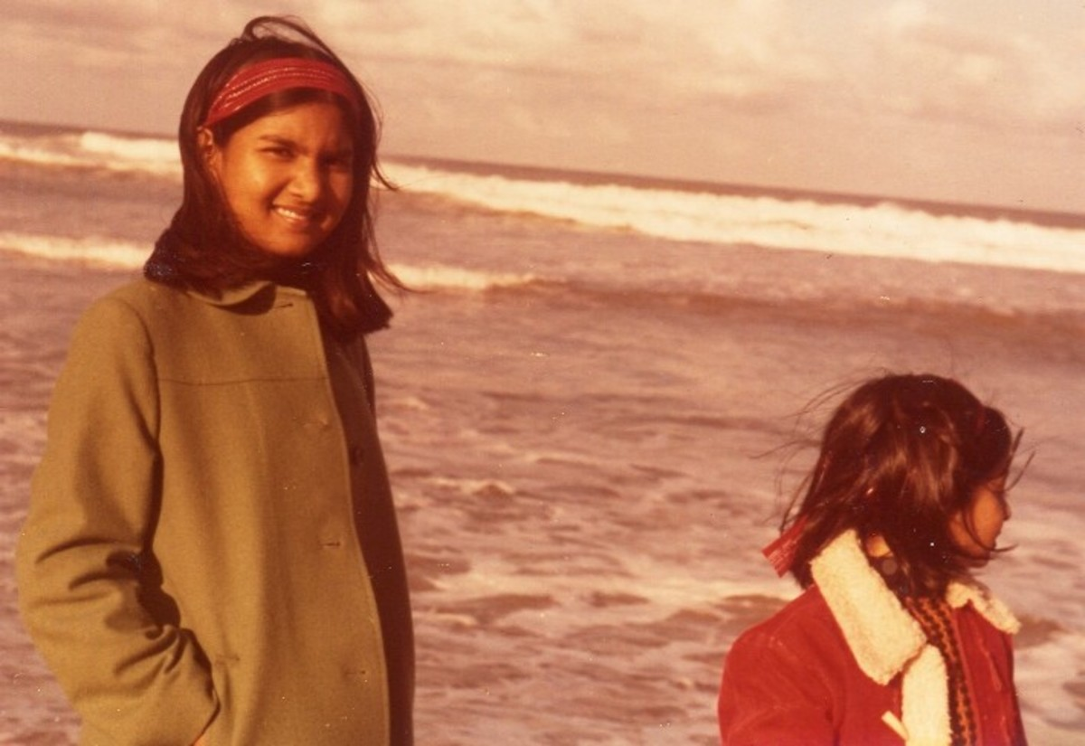 Pic11: My Little Sister and Myself By the Sea in the Winter Time