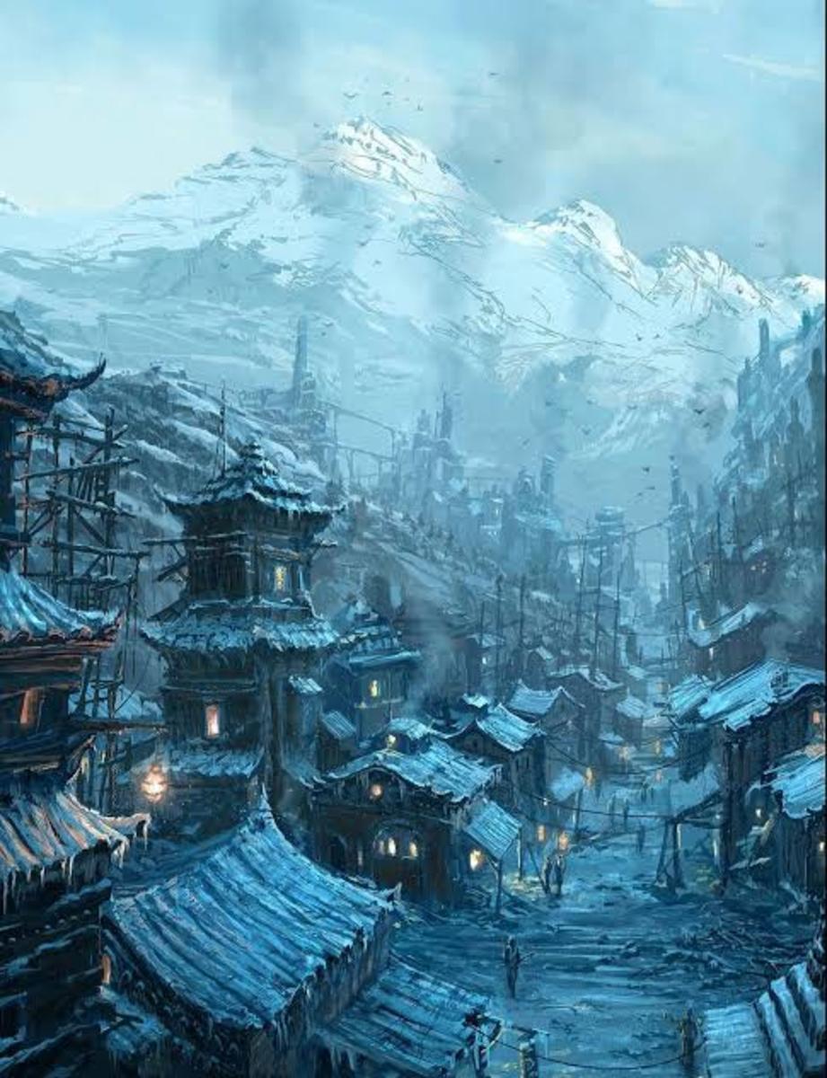 A Winter Dwarf village