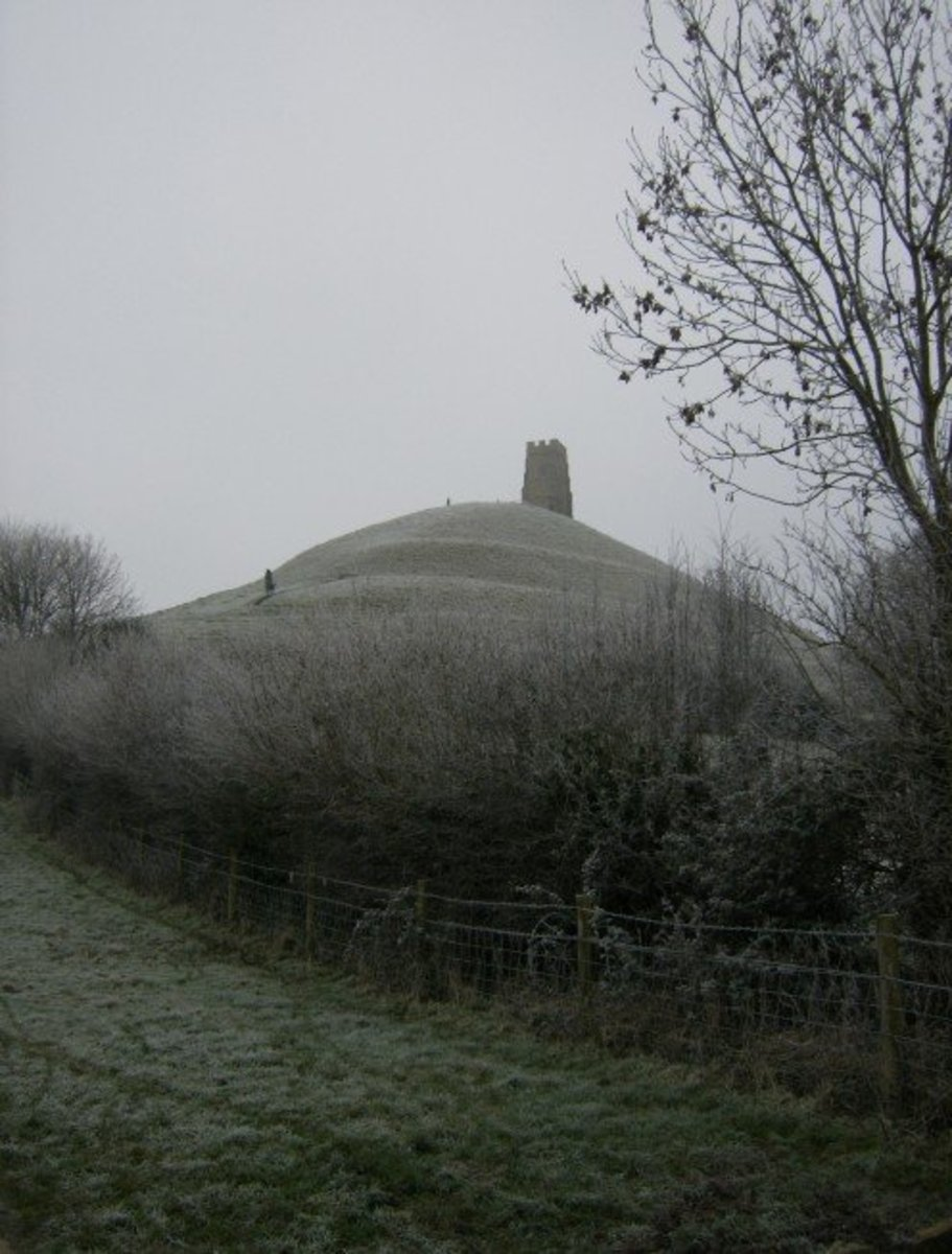 Glastonbury Tor in Winter