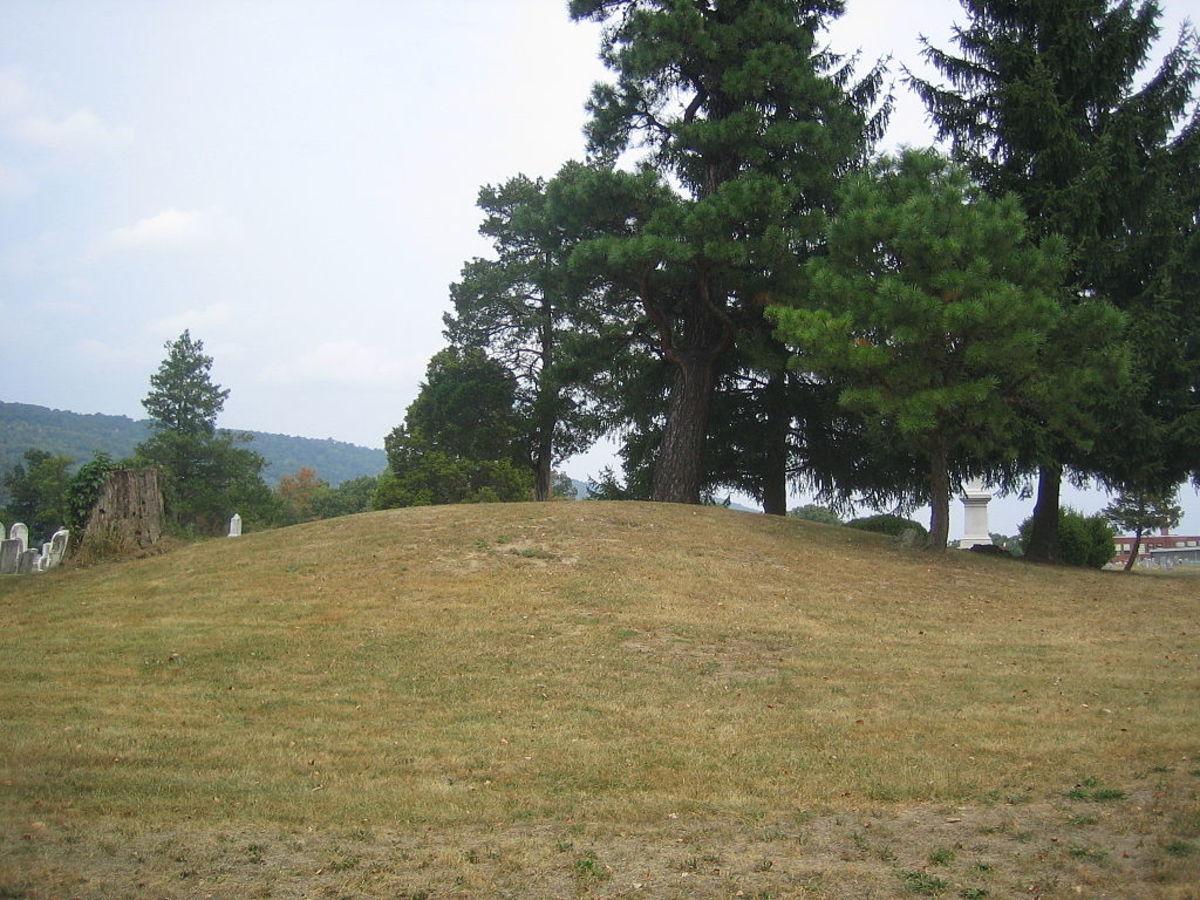 An Indian mound