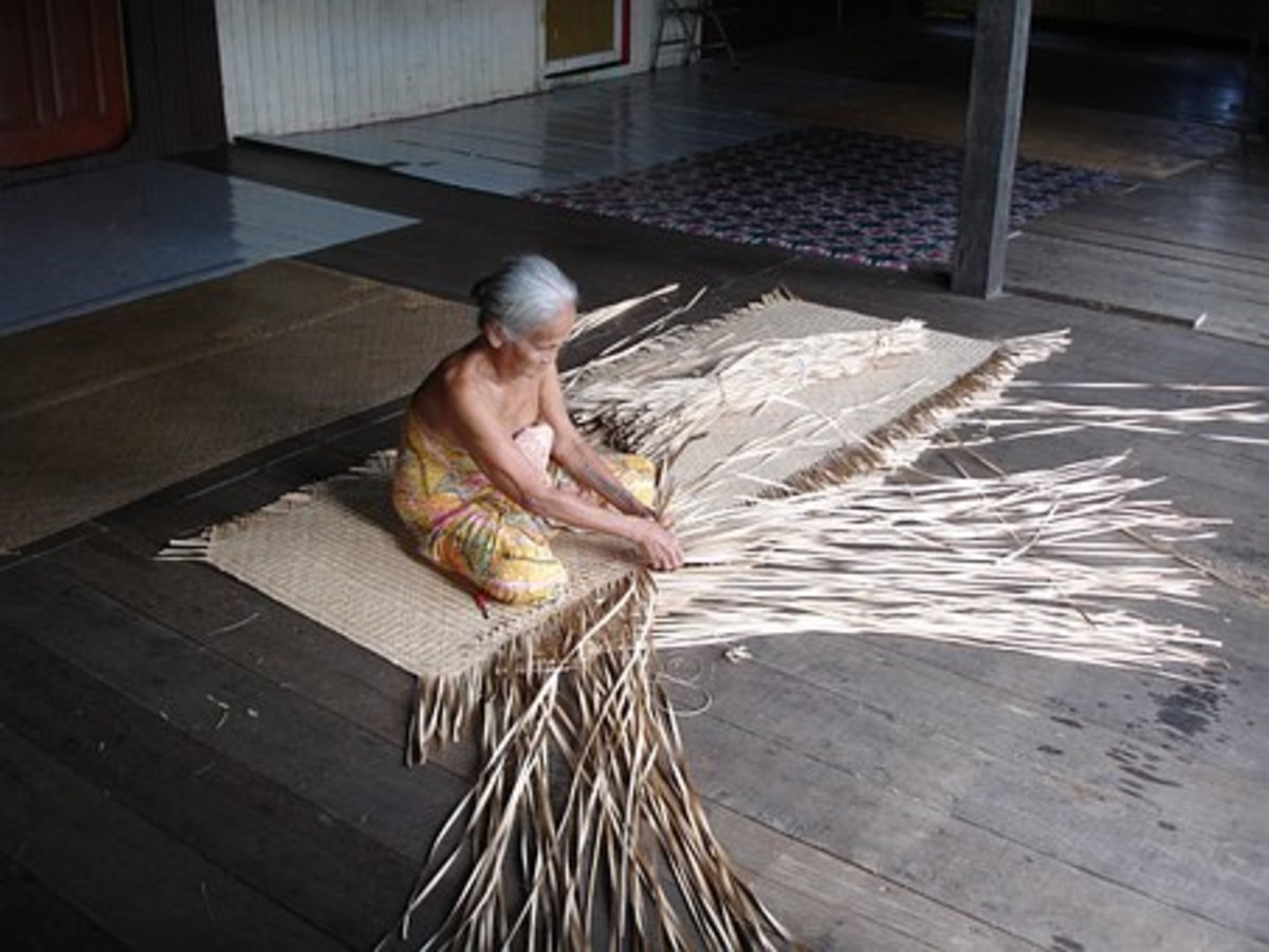 A Culture, Dayak grandmother