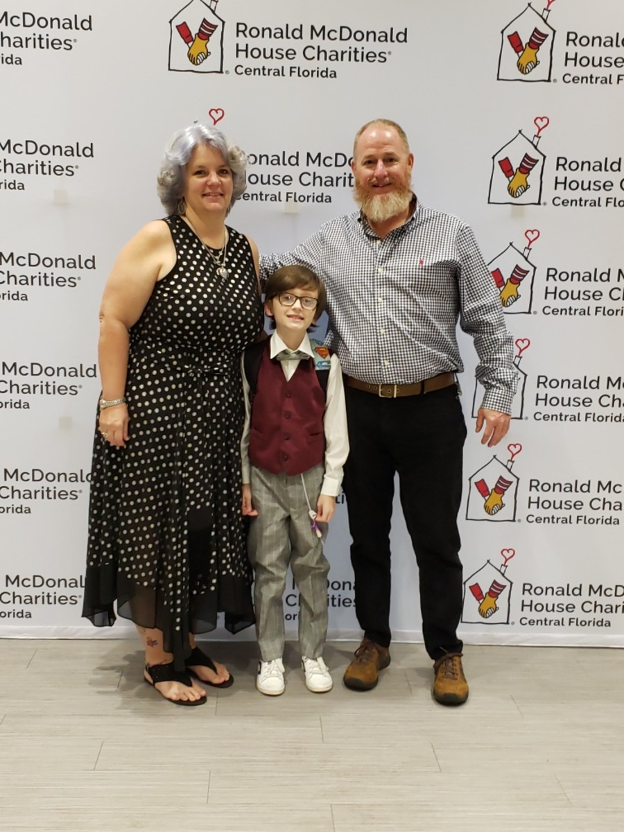 They are thankful because Ronald McDonald House in Orlando opened nine new rooms. My daughter and grandson travel there often and stay overnight as Heston Wayne has many doctor appointments.