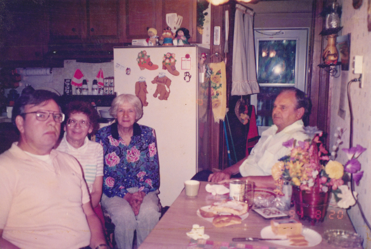 From left to right:  author, Aunt Sissy, mom, and dad.  Taken in 1994.