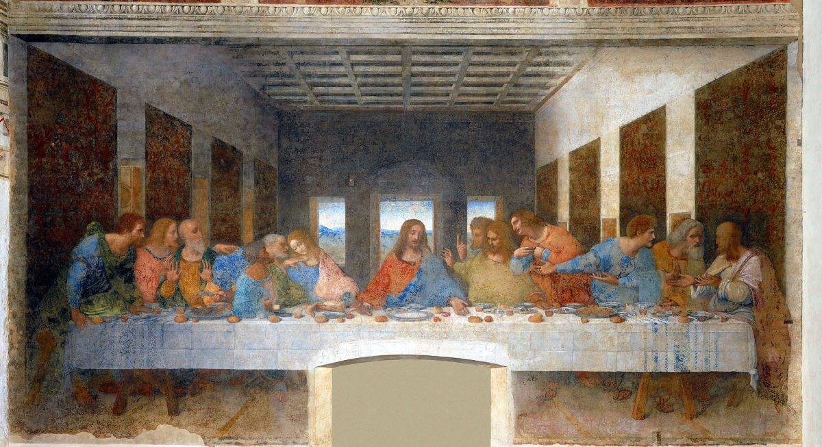 "Leonardo's masterpiece, The Last Supper,""  captures the moment when Christ proclaims, ""One of you shall betray me."" 1492 to 1498"