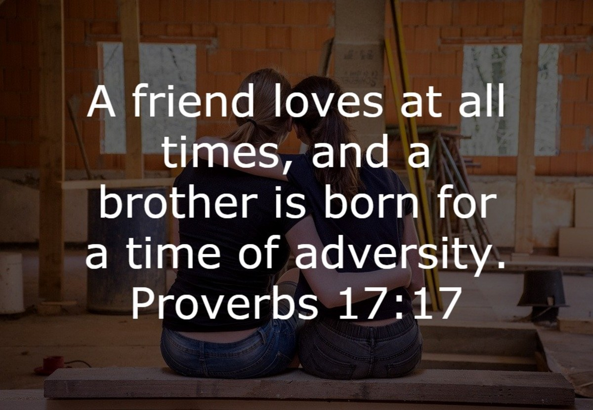 A brother is born for times of adversity
