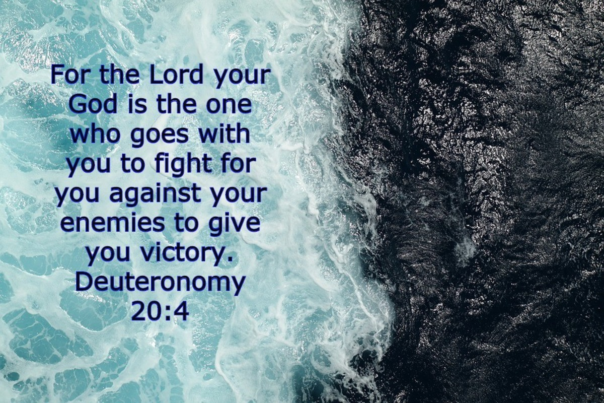 God goes with you to give you victory