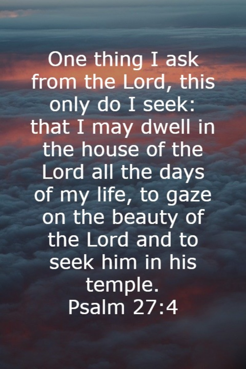 I want to dwell in the house of the LORD