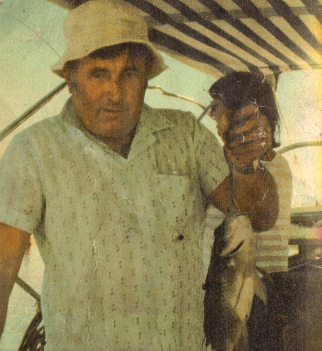 Dad with a caught bream