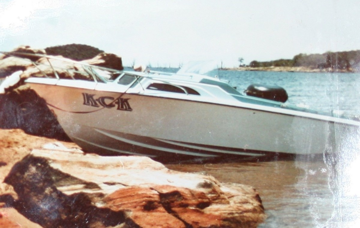 My dad's 21ft Ventura motor boat, was called KCK, the initials of his 3 daughters.