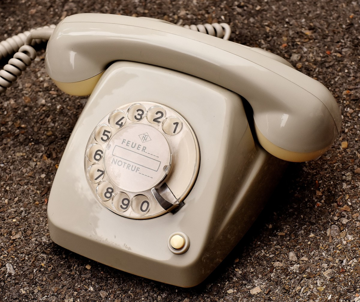 A dial telephone
