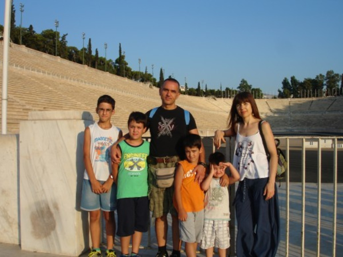 Ioannis, Fotini, his wife and their four children