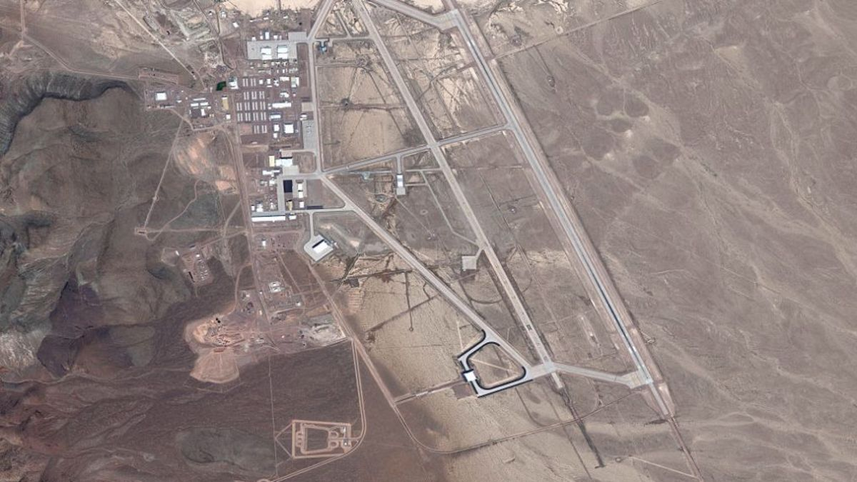 A birds eye view of Area 51