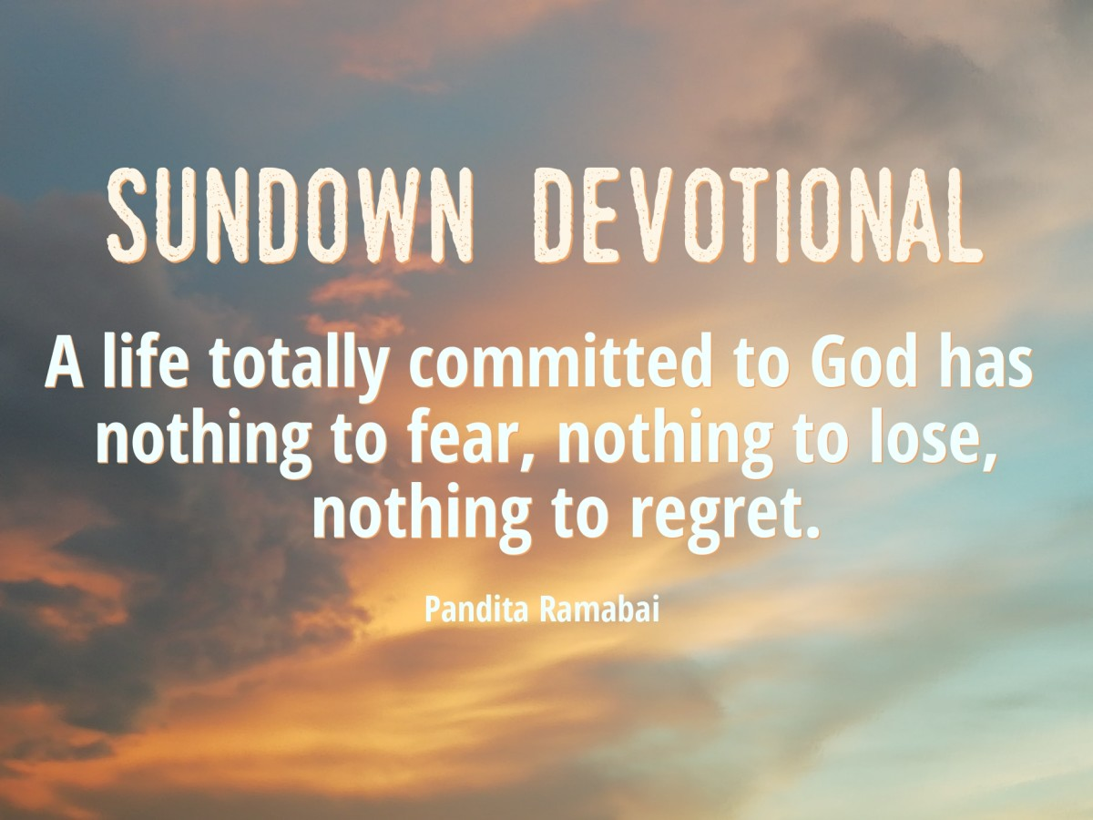 Sundown Devotional: Trust and Commitment