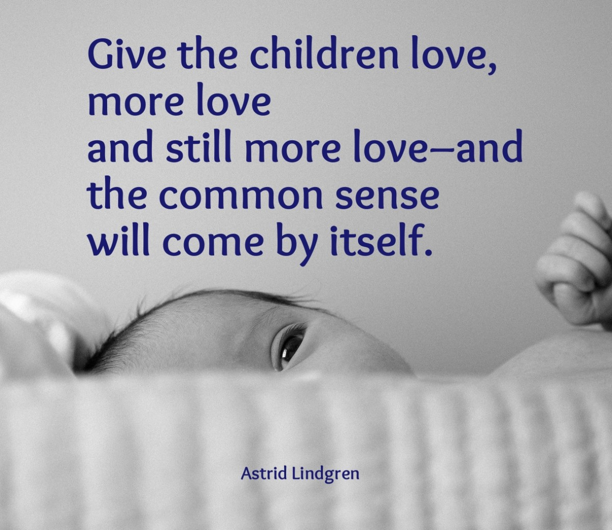Give the children love. (Photo by Charles)